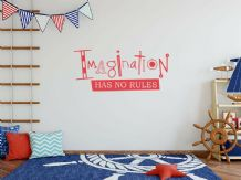 "Wall Art Sticker ""Imagination"" Wall Art Quote, Decal, Modern Transfer, Adhesive"